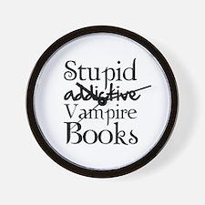 Stupid addictive vampire books Wall Clock