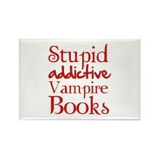 Stupid addictive vampire books Rectangle Magnet
