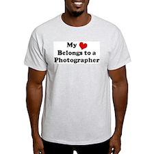 Heart Belongs: Photographer Ash Grey T-Shirt