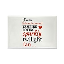 Vampire-loving sparkly twilight fan Rectangle Magn