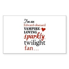 Vampire-loving sparkly twilight fan Decal