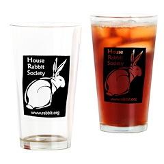 Rabbit Wood Block Drinking Glass