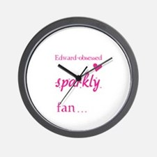 Vampire-loving sparkly twilight fan Wall Clock