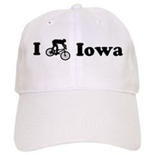 Mountain Bike Iowa Baseball Cap