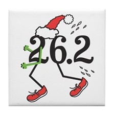 Holiday 26.2 Marathoner Tile Coaster