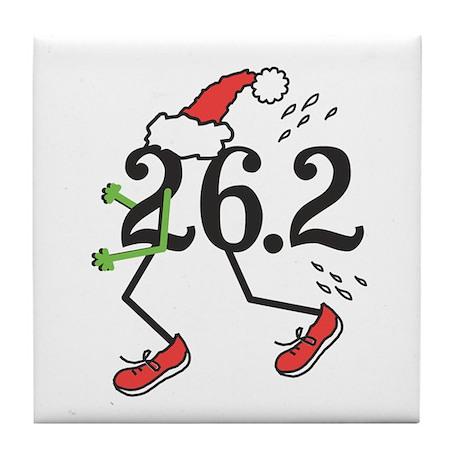 Holiday 26.2 Marathoner Tile Coaster