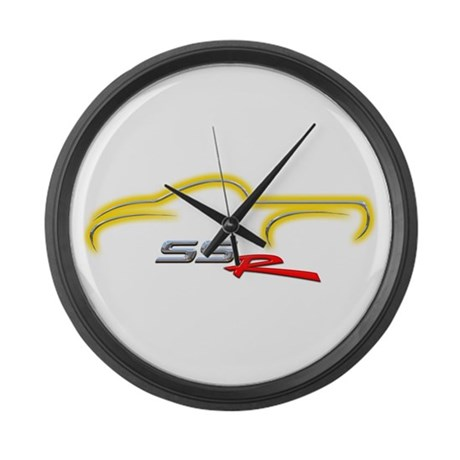 Slingshot Yellow Large Wall Clock