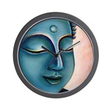 Blue Goddess of Compassion Wall Clock