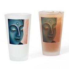Blue Goddess of Compassion Drinking Glass