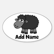 Add Name - Farm Animals Sticker (Oval)