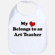 Heart Belongs: Art Teacher Bib