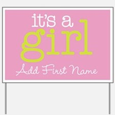 Its A Girl Custom Yard Sign