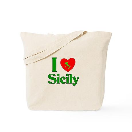 I Love Sicily Tote Bag