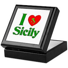 I Love Sicily Keepsake Box