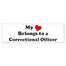 Heart Belongs: Correctional O Bumper Bumper Sticker