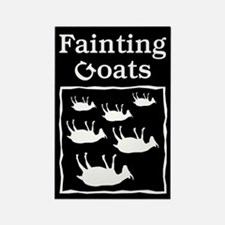 Fainting Goats Rectangle Magnet