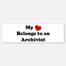 Heart Belongs: Archivist Bumper Bumper Bumper Sticker
