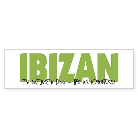 Ibizan IT'S AN ADVENTURE Bumper Sticker