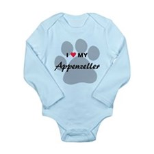 I Love My Appenzeller Long Sleeve Infant Bodysuit