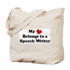 Heart Belongs: Speech Writer Tote Bag