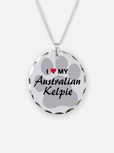 I Love My Australian Kelpie Necklace