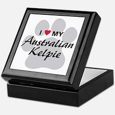 I Love My Australian Kelpie Keepsake Box