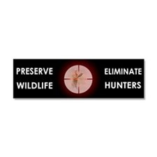 Anti-Hunting Car Magnet 10 x 3
