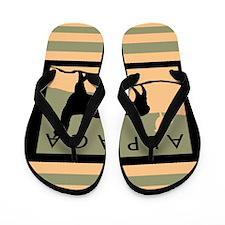 Alpacas Hillside Flip Flops