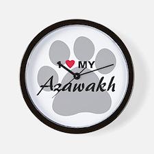 I Love My Azawakh Wall Clock