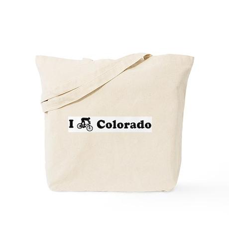 Mountain Bike Colorado Tote Bag