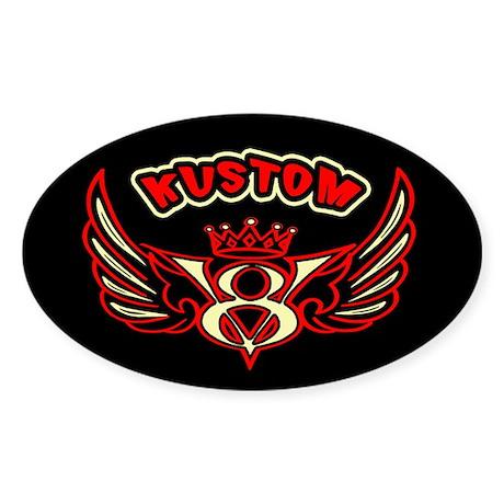 Kustom V8 Sticker (Oval)