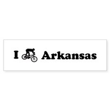 Mountain Bike Arkansas Bumper Bumper Sticker