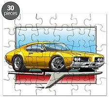 Gold 1969 Cutlass Puzzle