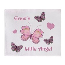 Gram's Angel Throw Blanket