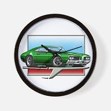 Green 1969 Cutlass Wall Clock