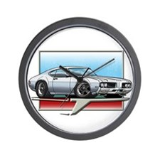 White 1969 Cutlass Wall Clock