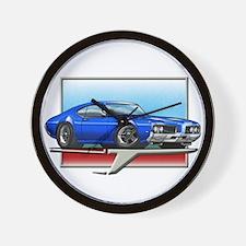 Blue 1969 Cutlass Wall Clock
