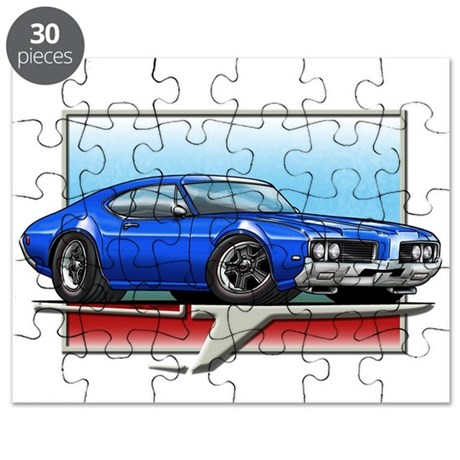 Blue 1969 Cutlass Puzzle