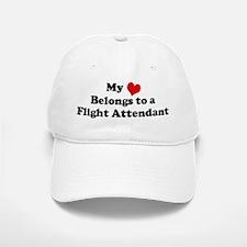 Heart Belongs: Flight Attenda Baseball Baseball Cap