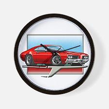 Red 1969 Cutlass Wall Clock