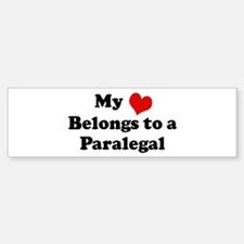 Heart Belongs: Paralegal Bumper Bumper Bumper Sticker