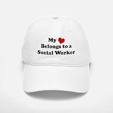 Heart Belongs: Social Worker Baseball Baseball Cap