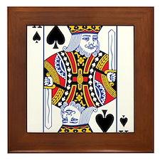 POKER FACE KING Framed Tile