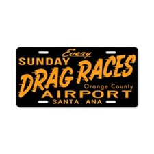 Drag Races Aluminum License Plate