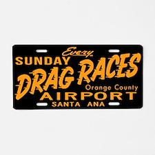 Drag Races Aluminum License Plate