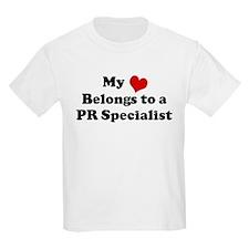 Heart Belongs: PR Specialist Kids T-Shirt