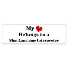 Heart Belongs: Sign Language Bumper Car Sticker