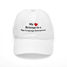 Heart Belongs: Sign Language Baseball Cap