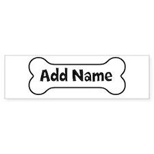 Add Name - Dog Bone Car Sticker