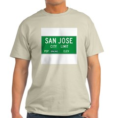 San Jose City Limits - Ash Grey T-Shirt
